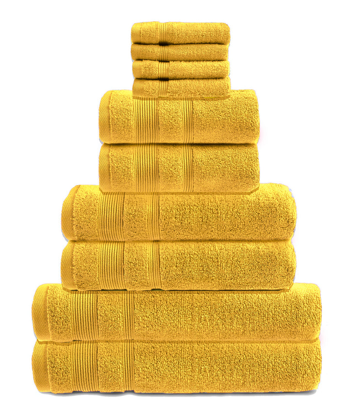 zero twist 10 pack towel bale in mustard
