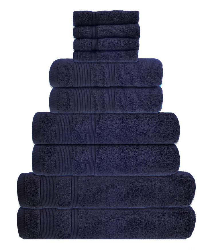 zero twist 10 pack towel bale in navy
