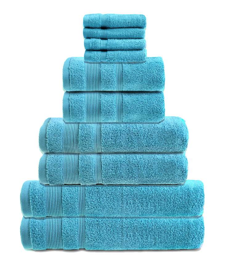 zero twist 10 pack towel bale in turquoise