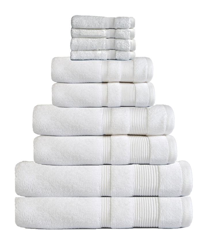 zero twist 10 pack towel bale in white