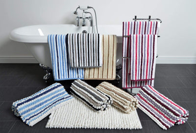 Chunky Bobble Bath Mat in California Stripe - Allure Bath Fashions