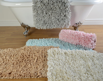 Ruffle Bath Mat with Shaggy Deep Pile - Allure Bath Fashions