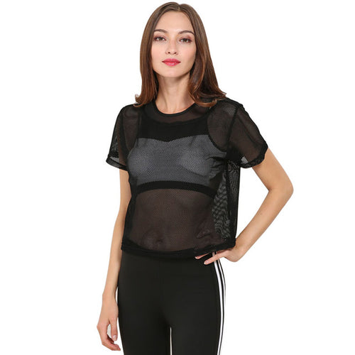 Summer Mesh O-Neck Top