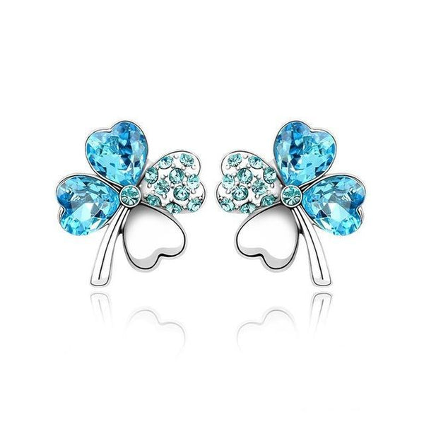 Clover Stud Earrings With Swarovski Elements