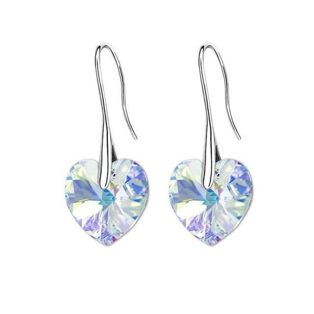 Swarovski® Crystal Heart Drop Earrings