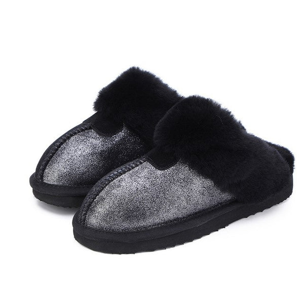 Melanie II Genuine Leather Slippers