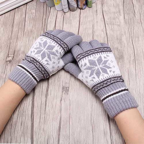 Snow Flake Keep Warm Gloves