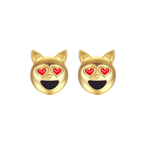Pawtastic Kitty Stud Earrings
