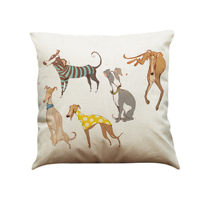 Vintage Dog Pillow Cover
