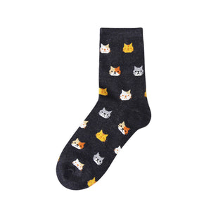 Women Cartoon Cat Socks