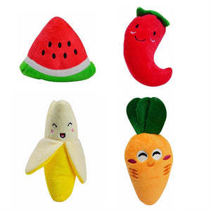 Squeaky Toys Veggie & Fruit Pack