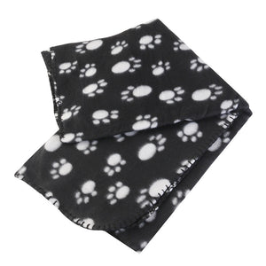 Paw Print Fleece Blanket