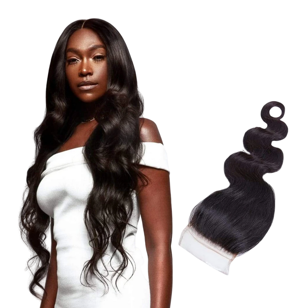 NEW HD 4X4 BODY WAVE LACE CLOSURE WIG - The Extension Gallery