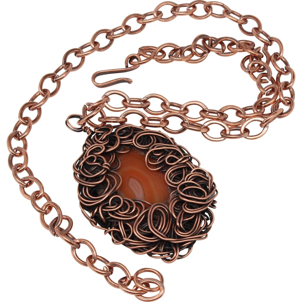 Amber Lady Pendant Copper Statement Necklace Necklaces