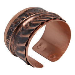 Antiqued Cross-Fold Copper Cuff Bracelet Bracelets
