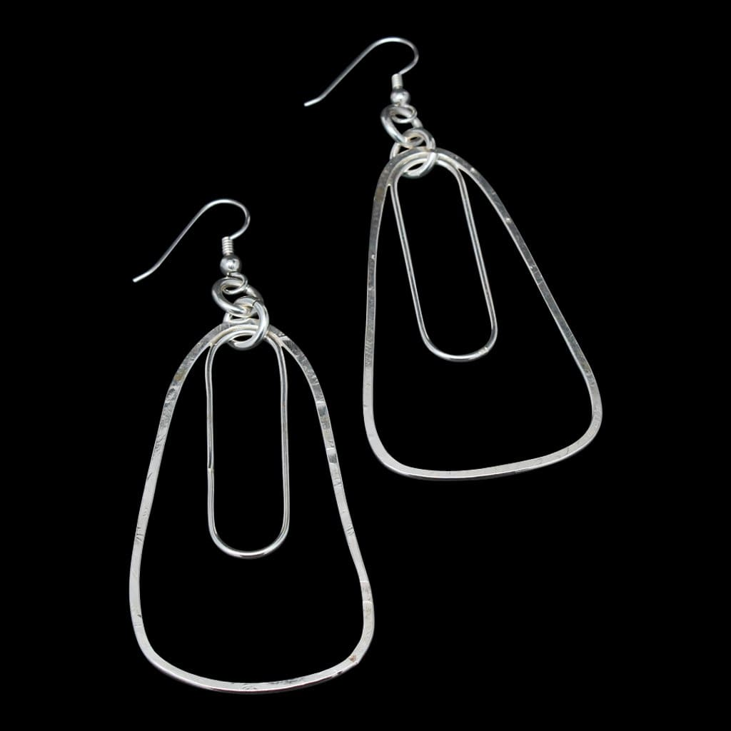 Argentium Silver Long Earrings Earrings