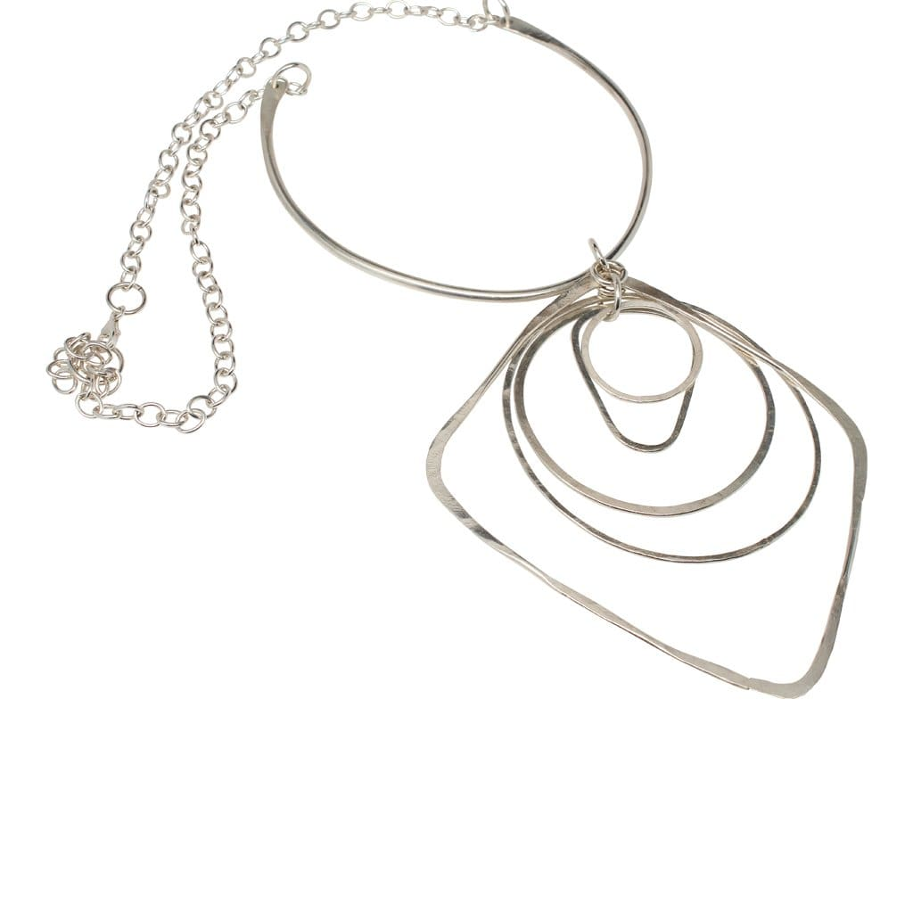 Argentium Silver Long Statement Necklace Necklaces