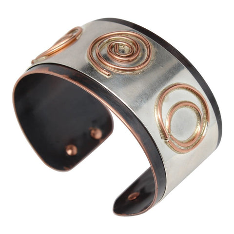 Copper Crazy Wire Cocktail Ring