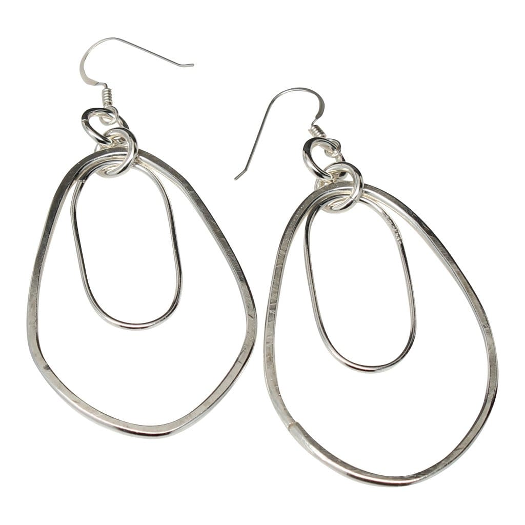 Argentium Silver Teardrop Long Earrings By Junebug Jewelry Designs Earrings