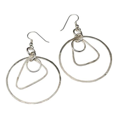 Argentium Chain Hoop Dangle Earrings