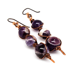 Copper And Amethyst Dangle Earrings Ii Earrings