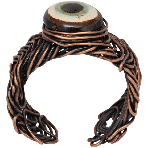 Warrior Woman Copper and Argentium Silver Choker Necklace