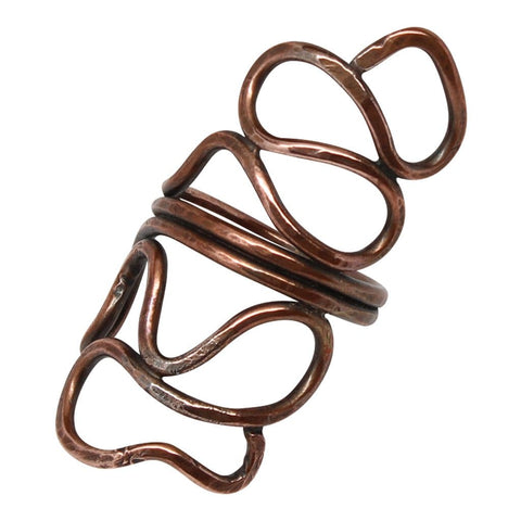 Copper Double Spiral Ring