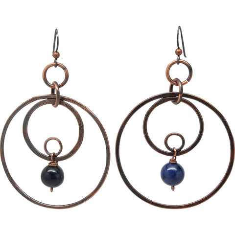 Double Infinity Copper Earrings