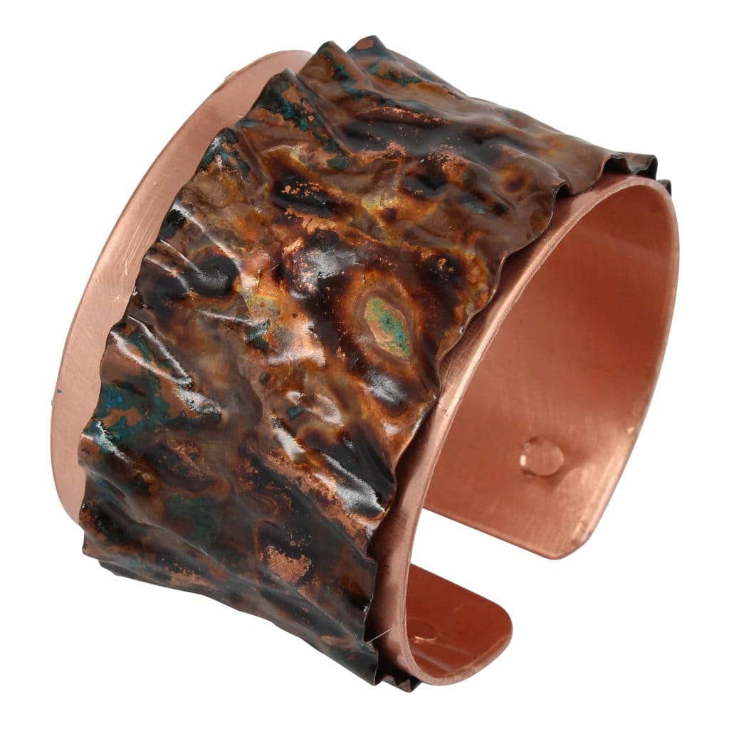 Crinkled Lost At Sea Copper Cuff Bracelet Bracelets