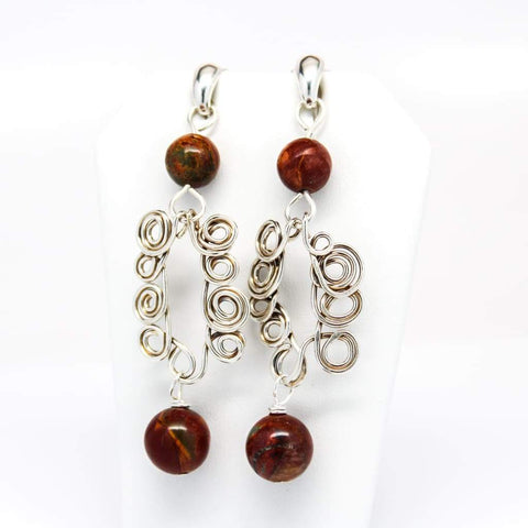 She's So Ladylike Argentium Silver and Carnelian Earrings