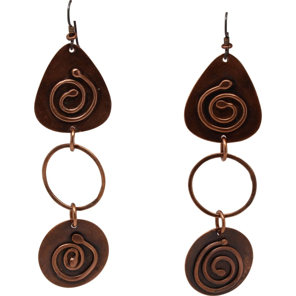 Double Your Journey Copper Dangle Earrings Earrings