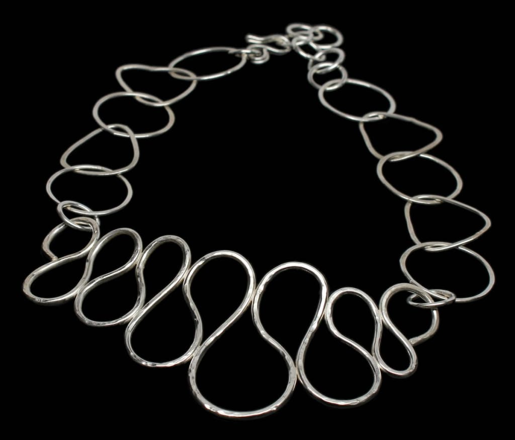 Feeling Loopy Argentium Silver Statement Choker Necklace Necklaces