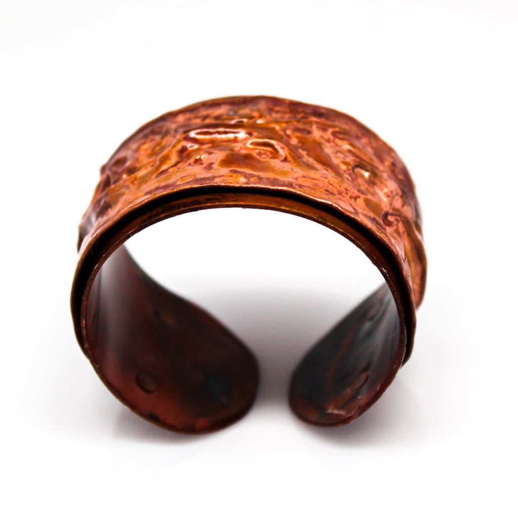 Fiyah In The Valleys Torch Painted Copper Cuff Bracelet