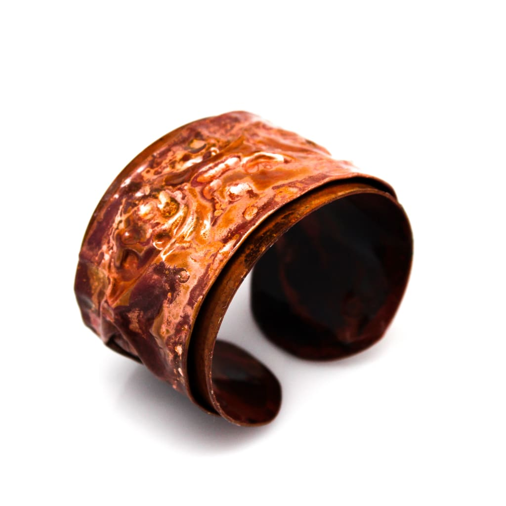 Fiyah In The Valleys Torch Painted Copper Cuff Bracelet Bracelets