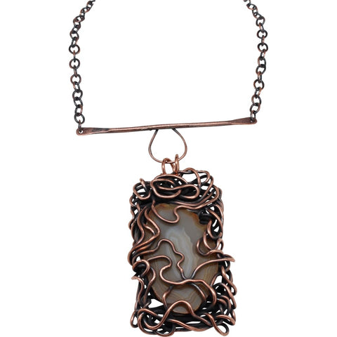 Beauty Marks Copper and Silver Choker Necklace