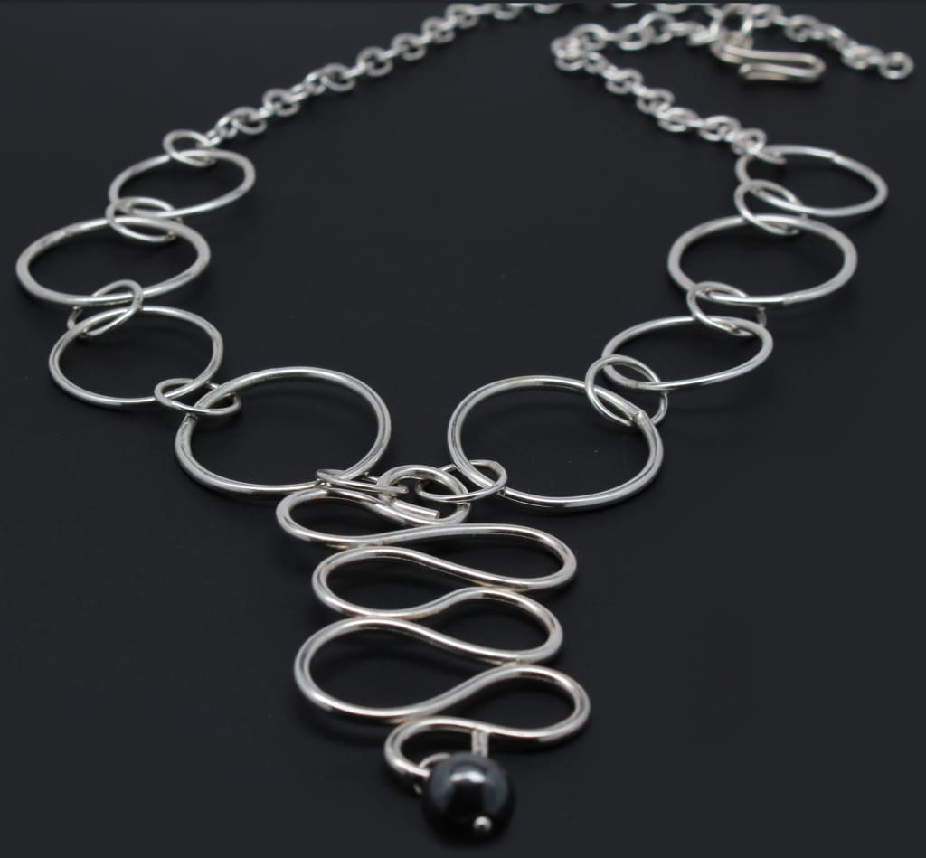 Lovely Loops Argentium Silver Statement Necklace Necklaces