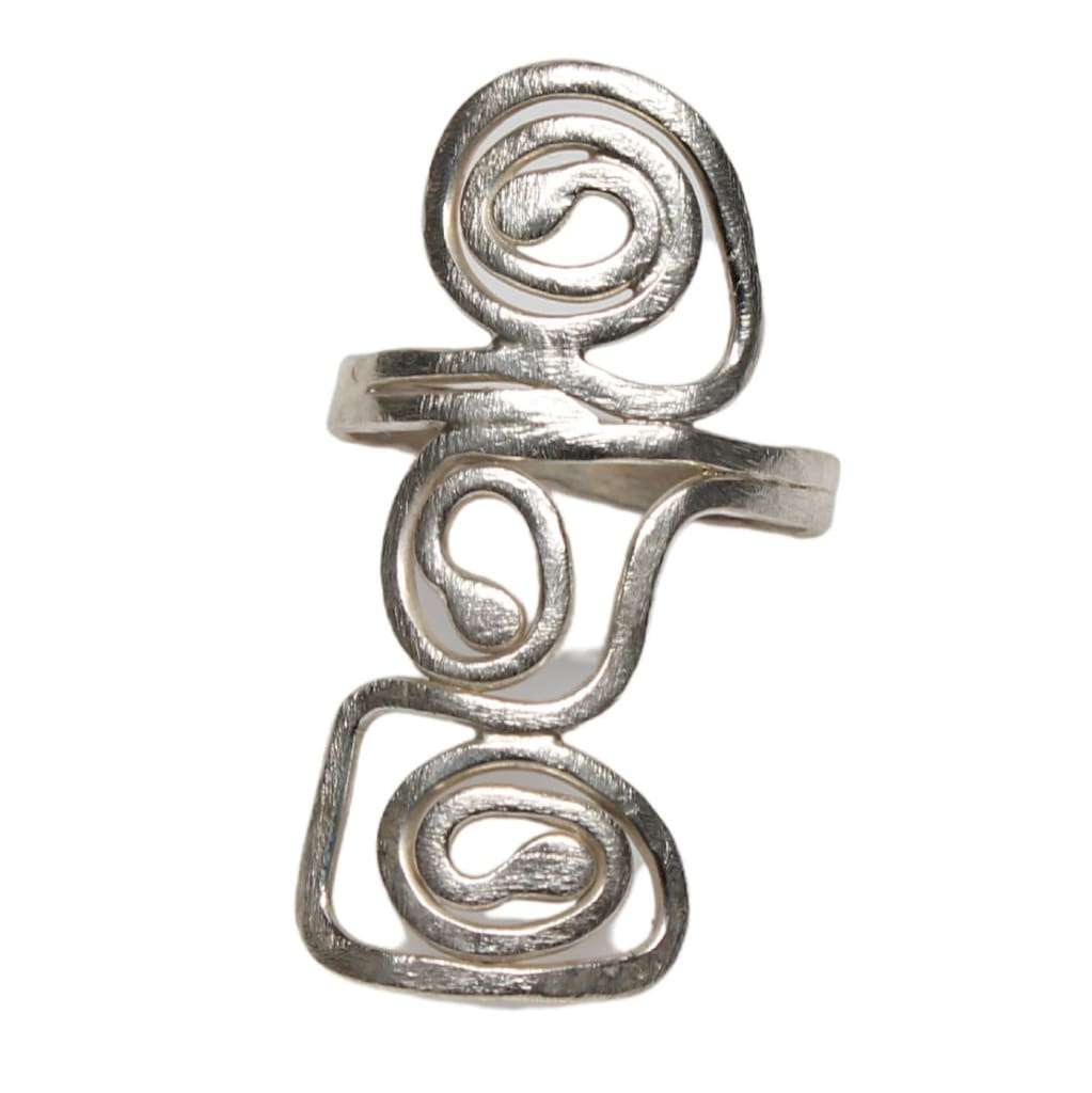 Many Journeys Argentium Silver Cocktail Ring Rings