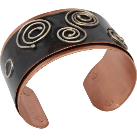 Molded & Antiqued Copper Cuff Bracelet