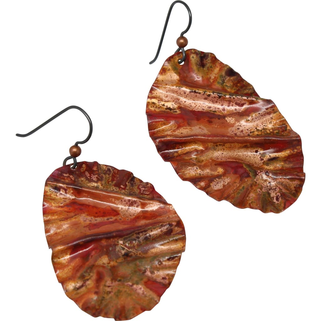 More Fiyah Painted Copper Earrings Earrings