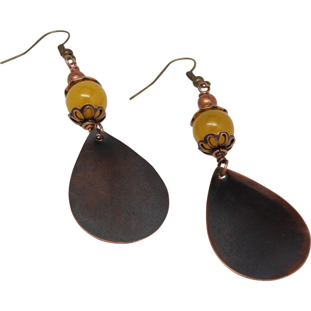 Small and Sassy Citrine and Copper Earrings Earrings