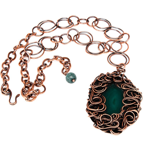 The Green Lady Pendant Copper Necklace Necklaces
