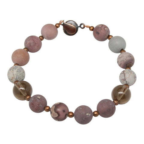 'Psychic Lady' Semi-Precious Gemstone Beaded Bracelet