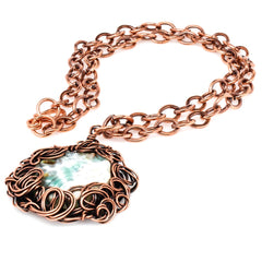 The Tree Agate Lady Copper Pendant Necklace Necklaces