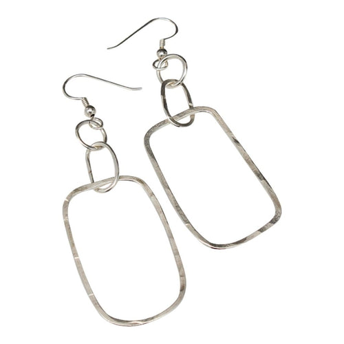 Three Tiers Argentium Silver Dangle Earrings Earrings