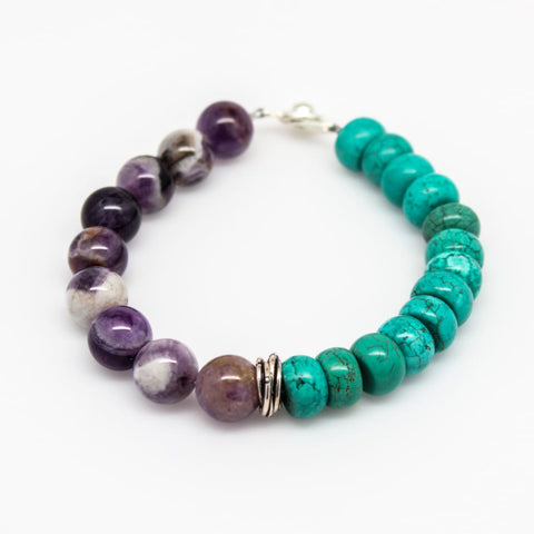 Time for Change Beaded Gemstone Stackable Bracelet