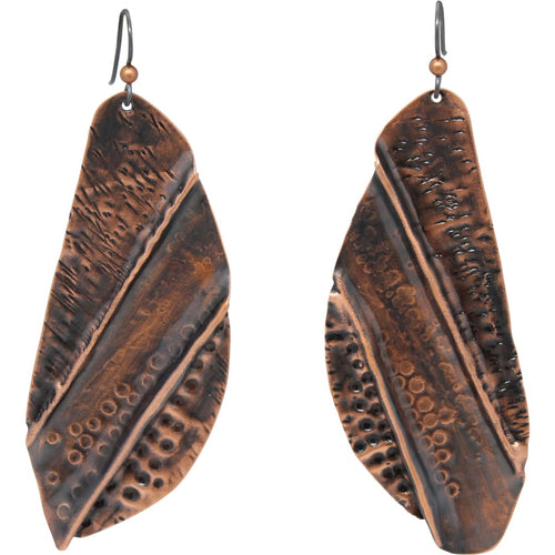 Warrior 3 Molded Copper Shield Earrings Earrings