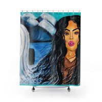 Mochahontas Streams Shower Curtains