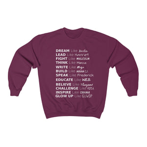 Glow Up Quote Crewneck Sweatshirt