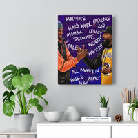 Hussle and Motivate Gallery Wraps