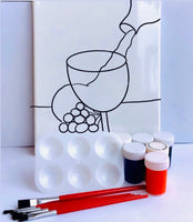 Variety Stenciled Canvases